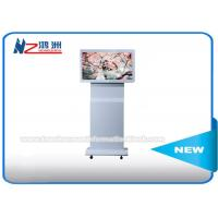 """42"""" Indoor Floor Standing Digital Advertising Kiosk Rotating LCD Player Android Monitor Manufactures"""