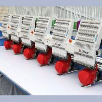 Buy cheap 12 Needle 400*450mm Embroidery Area 6 Head Flat Embroidery Machine from wholesalers