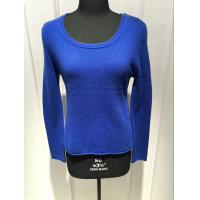 Royal Blue Cashmere Sweater For Ladies , Cashmere Pullover Sweater 2/28nm Yarn Count Manufactures