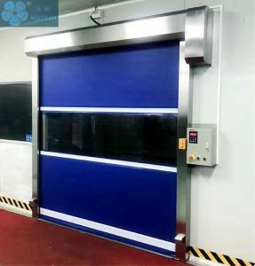 Dust Proof 3000mm Width 1.5mm PVC Roller Shutter Doors Manufactures