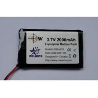 Polymer Lithium-ion battery Pack 3.7V 2000mAh (1.5C, 7.4Wh, 3A rate) Manufactures