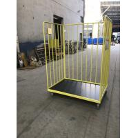 China Mild Steel Caged Trolley On Wheels , Mobile Cage Trolley Corrosion Protection on sale