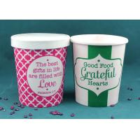 Buy cheap Paper Disposable Takeaway Soup Cups With Lids For Hot Soup , Heat Insulation from wholesalers