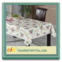 Custom Printed Popular Modern PVC Table Cloths with Non-woven Fabric Backing Manufactures