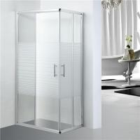 Quality Stripe Pattern Bathroom Shower Enclosures Adjustment 25mm For Each Side for sale