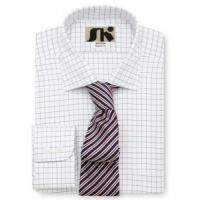 Men's classic shirts » Men's Yarn Dyed Check Cotton Cut Away Collar Shirt Manufactures