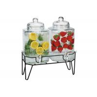Double glass beverage dispenser with stand , hammered embossing for juicing Manufactures