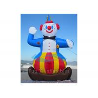Circus Show Colorful Clown Inflatable Cartoon Characters 3M Height Manufactures