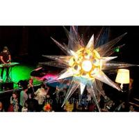 Quality Digital Printing Hanging Inflatable Star LED Lights Decoration For Party / for sale