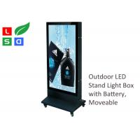Quality Outdoor LED Poster Display 700x1000mm Double Sided With Super Bright LED Spot for sale