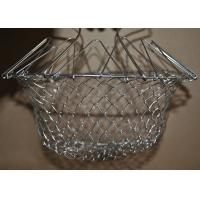 Buy cheap Collapsible Basket Stainless Steel Metal Wire Basket For Deep Frying from wholesalers