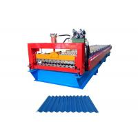 China Building Material Corrugated Steel Panel Roll Forming Machine Roller Diameter 80MM on sale
