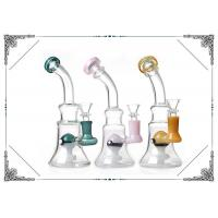 8 Inches Glass Smoking Bubbler With Color Elf Percolator Bongs Beaker Bottom Manufactures