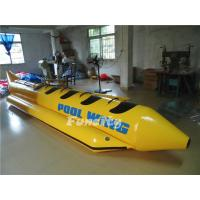 Single Tube Yellow Black Inflatable Banana Boat Customized Sea Ocean Manufactures