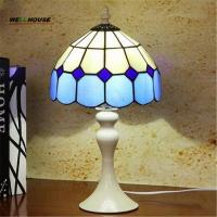 Tiffany Style Table Lamp With Flowers And Leaves Patterns With Stained Glass lamparas de mesa For table decor abajur par Manufactures