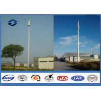 Microwave Mobile Cell Phone Tower Telecommunication pole HDG & Powder Coated Manufactures