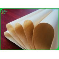 China Greaseproof Food Grade Brown Kraft Paper With PE Coated For Making Paperbags on sale