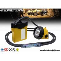 3W 800mA LED coal mining cap lamp , cable light color option with SAMSUNG battery pack Manufactures