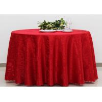 Polyester Jacquard Plain Linen Table Cloths For Wedding Party Oilproof Fire Retardant Manufactures