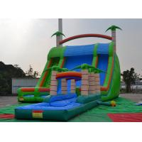 Colorful 0.55mmpvc Tarpaulin 8*6*5m Inflatable Slide With Swimming Pool For Outdoor Sports Manufactures