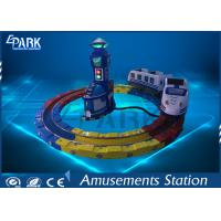 Attractive Kiddie Ride Machine Electric Train , Track Amusement Game Machine Manufactures