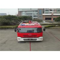 ISUZU Engine Motorized Fire Truck , Pumper Tanker Fire Trucks 9900×2500×3450mm Size Manufactures