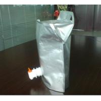 Reusable Aluminum Foil Bag Stand Up Pouch With Spout for Wine Manufactures