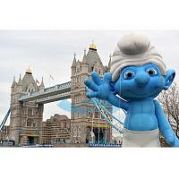 Quality Outdoor Event Inflatable Replica / Inflatable Smurf Character with Digital Printing for sale