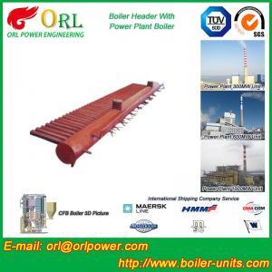 Water Tube Boiler Header Manifolds TUV Standard , Water Boiler Header Manufactures