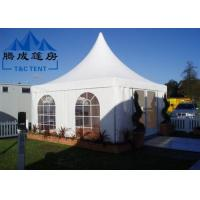 Advertising Pagoda Party Tent With White PVC Window / Sidewall Curtain Manufactures