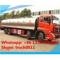 hot sale 25,000L fresh milk tank truck,Dongfeng tianlong 8*4 25m3 stainless steel milk tank delivery truck for sale Manufactures