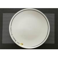 Ceramic Round Plate With Logo Porcelain Dinnerware Sets Dia. 25cm Weight 744g Manufactures