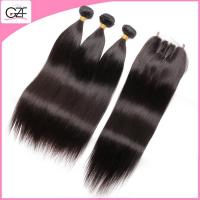 Hot Sale Hair Bundles and Closure for Wholesale Mongolian Straight Hair with Closure Manufactures