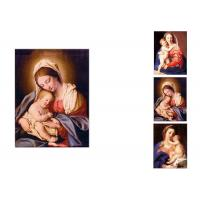 0.6mm PET Flip Religion Virgin Mary / Jesus 3D Lenticular Images For Wall Decro Manufactures