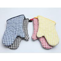 Durable Pot Holder Gloves , Cotton Oven Gloves Good Water Absorbtivity Manufactures