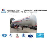 CLW brand double BPW axles 40.5cubic road transported lpg gas tank for sale, 17tons lpg gas tank trailer for sale Manufactures