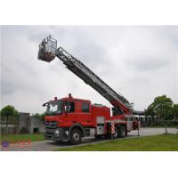 4 Ladder Section Aerial Ladder Fire Truck Lower Failure Rate 10720×2500×4000 Size Manufactures