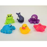 Small rubber bath toys floating animal toy set of squirt bath animal toy Manufactures