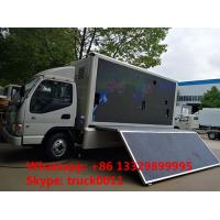 Quality HOT SALE forland 4*2 RHD LED advertising truck with 3 sides P8 LED screen, best for sale