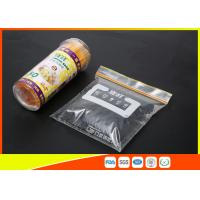 High Clarity Resealable Resealable Freezer Zip Lock Bags For Frozen Food Manufactures