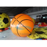 Ground Advertising Basketball Helium Balloons Fireproof Inflatable Manufactures