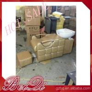 beauty salon furniture hair washing sink salon equipments backwash shampoo unit bed Manufactures