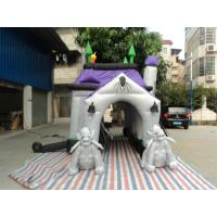 Black / White Inflatable Party Tent Soul House Fireproof School Use Manufactures