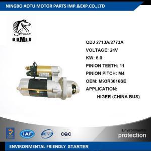 24V Commercial Vehicle Parts M93R3016SE HIGER Engine Starter Parts / Car Starter Motors Manufactures