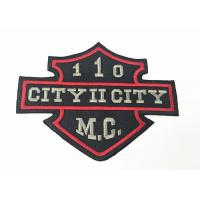 China Motorcycle Clothing Embroidery Patches Custom Embroidered Back Patches on sale