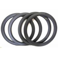 60MM Depth Clincher Carbon Road Bike Rims 700C U Shape With 25MM Width Manufactures