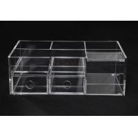 Clear Commercial Store Fixtures 6 Compartments For Mix Makeup Store Manufactures