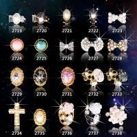 Hot NEW Wholesale Alloy Jewelry 3D Nail Art Jewelry Nail rhinestones Sticker Supplier Number ML2719-2738 Manufactures