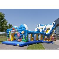 Blue Sea Customized Commercial Inflatable Slide With Waterproof PVC Material Manufactures