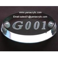 Customized Durable Laser Engraving Door Plate / Acrylic Product Display Manufactures